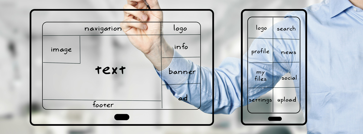 Web Design Sri Lanka A designer planing responsive strategy for a website.